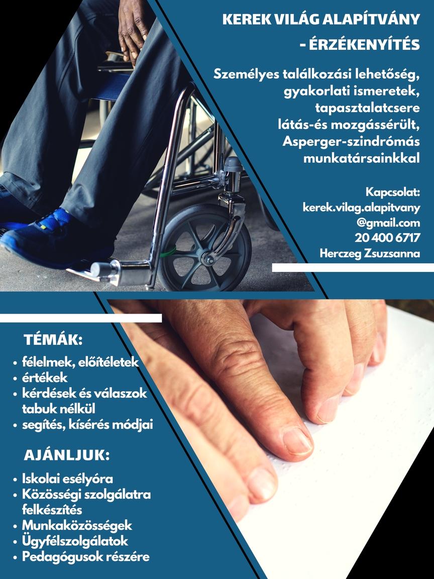 Érzékenyítő szolgáltatások, tevékenységek plakát